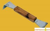 Стамеска нержавеющая с деревянной ручкой