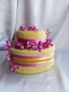 Торт из полотенец двухярусный №7