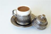 Чашка аутентичная для кофе по-турецки СЕРЕБРО