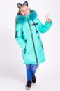 Зимняя куртка для девочки «Мода» мята