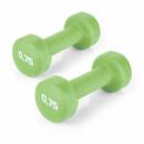 Гантели для фитнеса 2х0.75 кг Spokey SHAPE IV Зеленые (s0334)