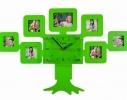 Фоторамка с часами Семейное дерево зелёное