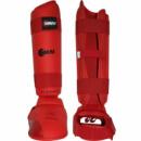Защита голени и стопы SMAI WKF красные
