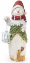 Декоративная керамическая фигурка «Снеговик с фонарем» 50см