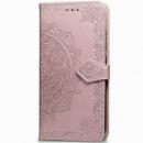 Кожаный чехол (книжка) Art Case с визитницей для Xiaomi Redmi 8 Розовый