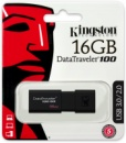 Флешка USB KINGSTON DataTraveler 100 G3 16Гб, черный