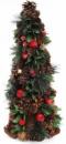 Декоративная елка «Зеленые листики» 48см с натуральными шишками