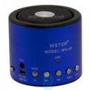 Портативная колонка WSTER WS-A8 синяя