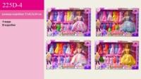 Лялька «Барбі 225D-4 (24ш/2) з одягом в наборі, і аксесуарами, 4 види мікс, в кор. 51*34*6,5см