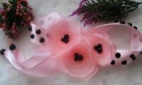 повязка на гульку розовые цветы