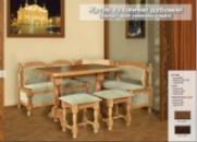 Кухонный уголок дубовый+стол +2 табурета