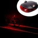 Лазерный хвост велосипедный LED 9301 + стоп - маяк с режимами