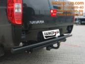 Тягово-сцепное устройство Nissan Navara (трубчатый бампер) (2005-2016)