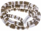 Чокер коричнево-серебристый