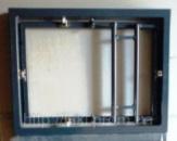 Потайной люк невидимка под плитку, нажимной 300х400 мм (сдвижной)