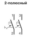 Автоматические выключатели Hager 6 кА, хар-ка С, 2 полюса
