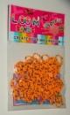 Оранжевые в точку резинки для плетения Rainbow loom