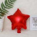 Фольгированный шар звезда красная 18'' 45 см
