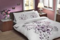 Комплект постельного белья Тас сатин делюкс Perry фиолетовое евро