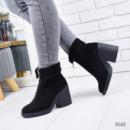 Ботинки женские Teresa черные замша