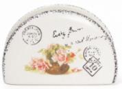 Салфетница керамическая «Провансальская Роза» подставка для салфеток 12х4х8см