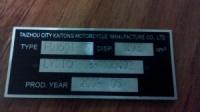 Дублирующие таблички на СКУТЕРА и МОТОРОЛЛЕРЫ любых марок