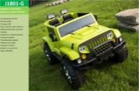Электромобиль J1801-G Зеленый (1шт)р/у,2*12V7AH ,35W*4, колеса EVA, кожа, в кор.129*77,2*74,8см