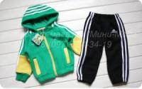 Детский спортивный костюм «Adidas», зеленый