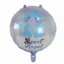 Фольгированный шар Сладкий ангел голубой 18'' 45 см