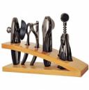 Набор аксессуаров Kamille 6 предметов. Барсет на деревянной подставке.