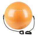 Профессиональный фитбол с насосом Spokey Fitball с эспандерами 65 см Оранжевый