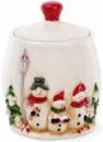 Банка для новогодних сладостей «Трио снеговиков» 4.1л керамическая