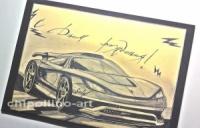 Открытка на День рождения для парня машина Porsche