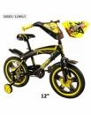 Велосипед 2-х колісний діаметр 12 SX-001-12 ЖЕЛ, з дзвоником,зеркалами, заднім і ручним гальмом