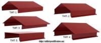 Крышка парапетная для кровли, фасада, забора - окрашенный (политэстер) - 690 мм