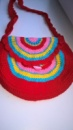 Детская сумка «Радуга» - вязаная cумочка для Вашего ребенка с экологических материалов от автора Ирины Обжеляновой!