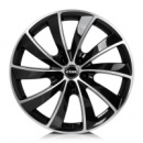 16 7,5 5x112 ET38 RIAL Lugano diamond-black front polished Диски для VW, SKODA, SEAT, AUDI