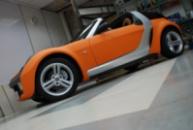 Smart Roadster оклейка пленкой (оранжевый мат алмазная крошка)
