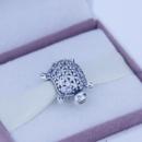 Черепаха с кристаллами Пандора и с серебра 925