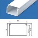 Кабельний канал 100х60 (16 м.п./уп) пластиковый с крышкой