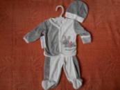 Велюровый костюмчик для новорожденного