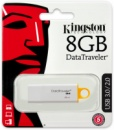 Флешка USB KINGSTON DataTraveler G4 8Гб, белый