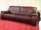 Большой кожаный мягкий диван б/у - Италия