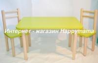Детский столик два стульчика ширина 60*40 высота 40 см стола (от производителя Украина)