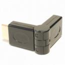Переходник HDMI-HDMI (HDMI мама - HDMI папа) угловой, 0 - 180 градусов