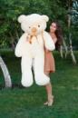 Большой плюшевый медведь Тедди 160см кремовый
