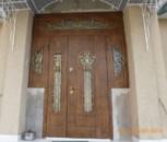 Дверь входные с МДФ накладками полуторная, арка, окна. (ДМПОФ13)