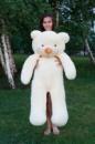 Большой плюшевый медведь Тедди 140 см кремовый