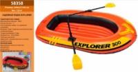 Лодка 58358 «EXPLORER 300» (2шт) на 3 чел. (до 200кг), винил,с веслами, в кор. 244*117*36см