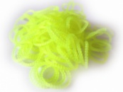 Желтые пузырчатые круглые резинки для плетения Rainbow loom